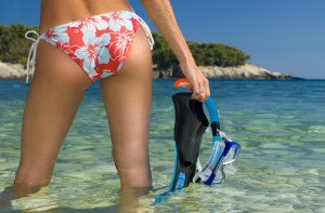 Sexy snorkeler